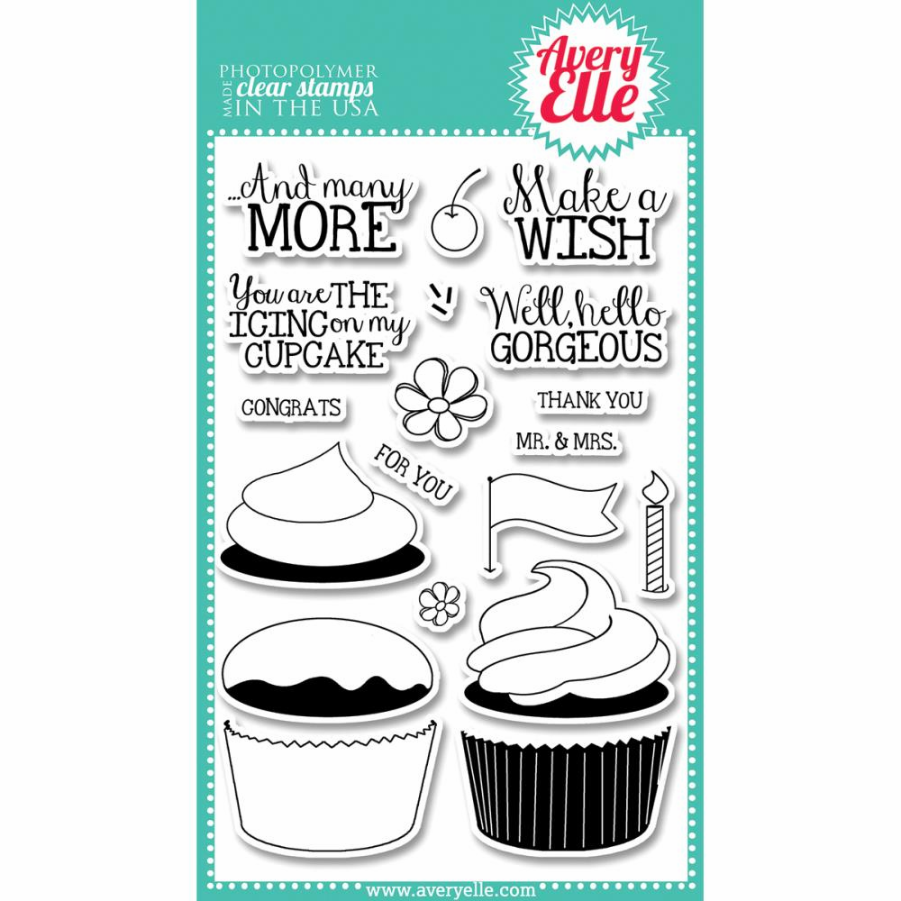 Avery Elle Cupcakes Clear Stamp Set (E)