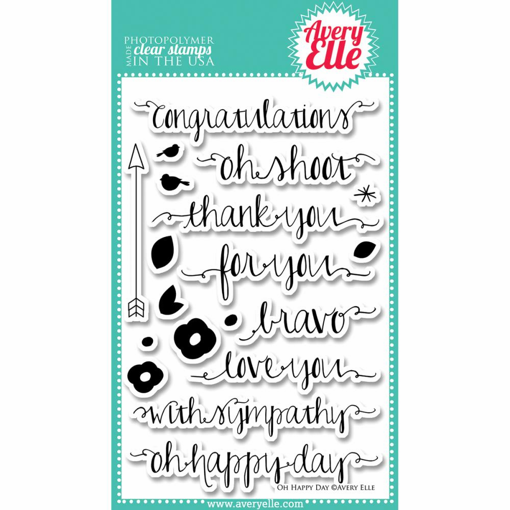 Avery Elle Oh Happy Day Clear Stamps - S/O