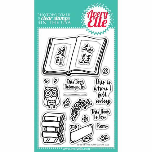 Avery Elle This Book Clear Stamp Set - S/O