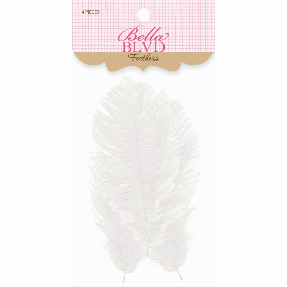 Bella Blvd - Feathers - White