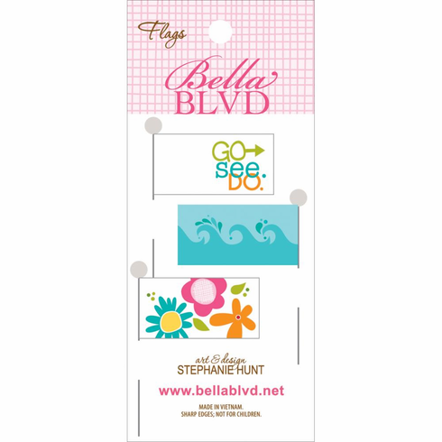 Bella Blvd - Sand & Surf - Stick Pin Paper Flags