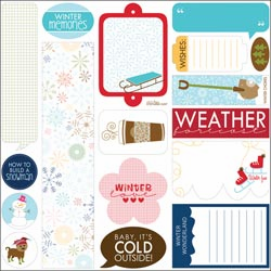 "Bella Blvd: Winter Wonder - Cardstock Stickers 12""X12"" Just Write - S/O"