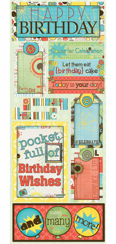 Bo Bunny: Ad Lib - Party On! Cardstock Stickers