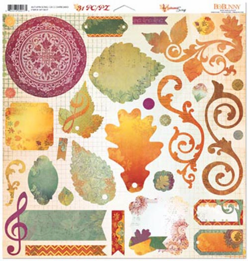 Bo Bunny Autumn Song Chipboard 12x12