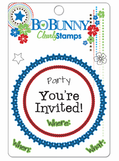 Bo Bunny: Block Party - Clearly Stamps (E*)
