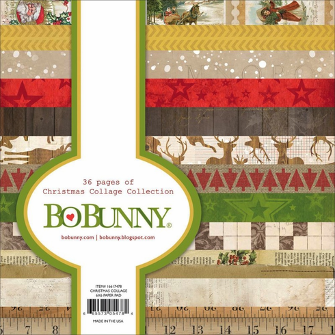 Bo Bunny - Christmas Collage - 6x6 Paper Pad (E)