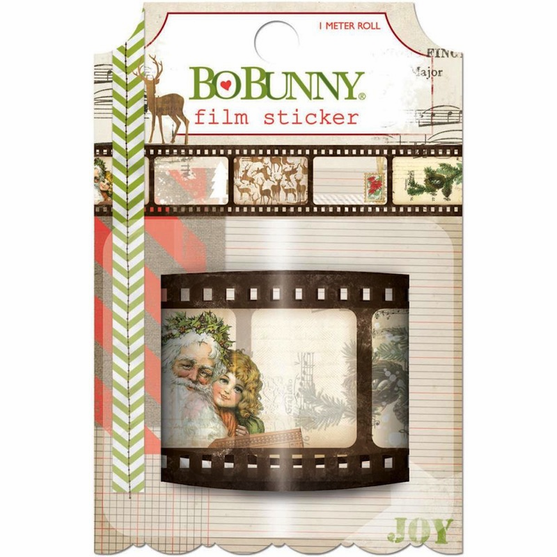 Bo Bunny Christmas Collage Film Sticker
