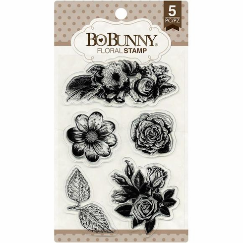 Bo Bunny - Clear Stamp Set - Floral - S/O