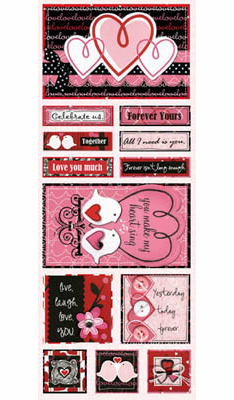 Bo Bunny: Crush - Cardstock Stickers Forever Yours