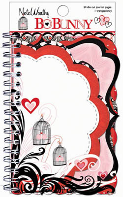 "Bo Bunny - Crush - Noteworthy Spiral Bound Die-Cuts 4""X6"""