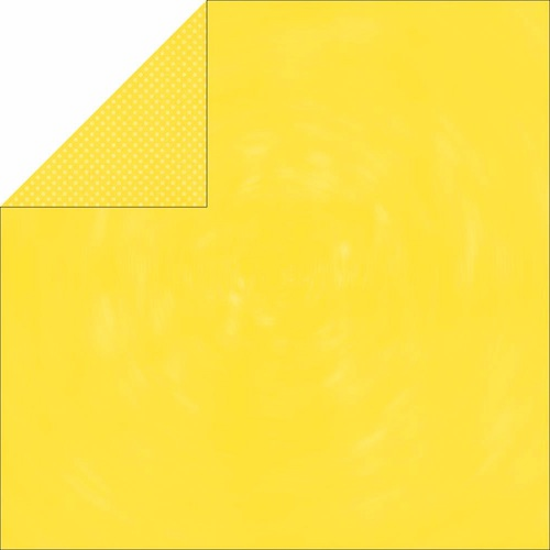Bo Bunny - Double Dot Cardstock - Lemonade