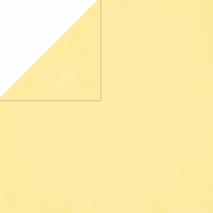 Bo Bunny - Double Dot Cardstock - Mellow Yellow