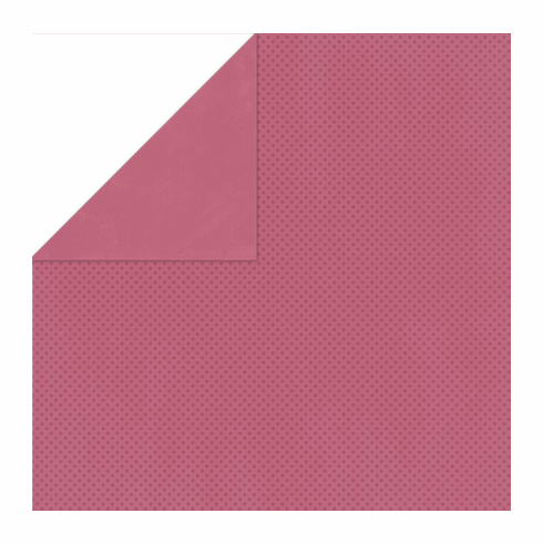 Bo Bunny - Double Dot Cardstock - Raspberry