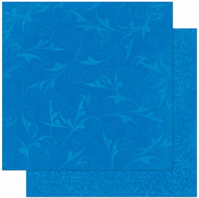 Bo Bunny - Double Dot Design Cardstock - Flourish Blueberry