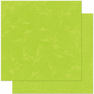 Bo Bunny - Double Dot Design Cardstock - Flourish Kiwi