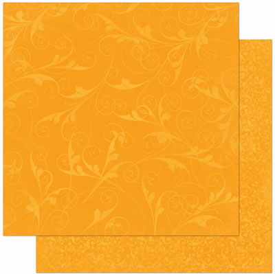 Bo Bunny - Double Dot Design Cardstock - Flourish Orange Citrus