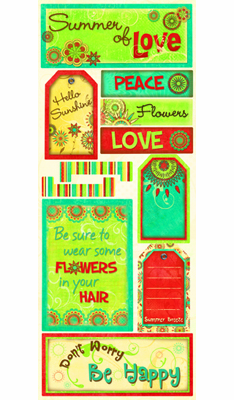 Bo Bunny: Flower Child - Cardstock Stickers Hello Sunshine