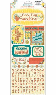 Bo Bunny - Hello Sunshine - Hot Hot Hot Cardstock Sticker (S/O)