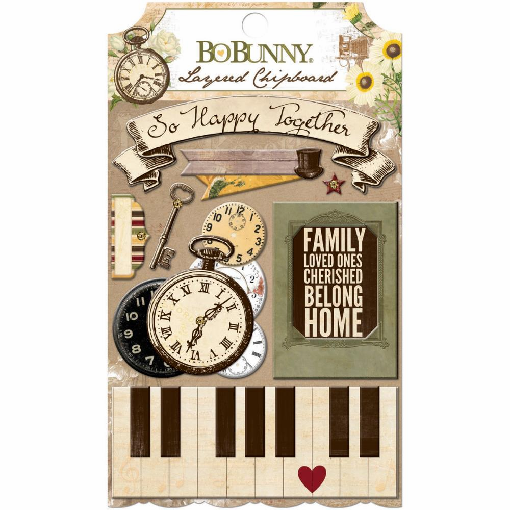 Bo Bunny - Heritage - Layered Chipboard (E*)