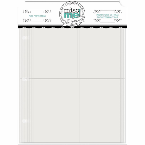 Bo Bunny Misc Me 8x9 Page Protector Variety Pack (6x8, 4x6, 3x4 and 3x4/4x6) (E)