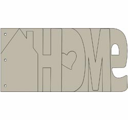 Bo Bunny: My Word Chipboard Album - Home