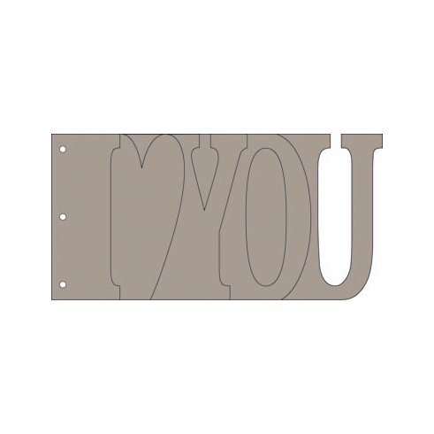 Bo Bunny: My Word Chipboard Album - I Love You