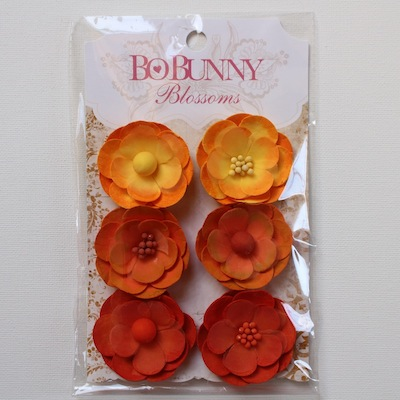 Bo Bunny - Pansy Blossoms - Harvest Orange
