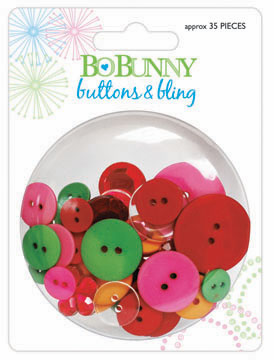Bo Bunny: Popsicle - Buttons & Bling - S/O