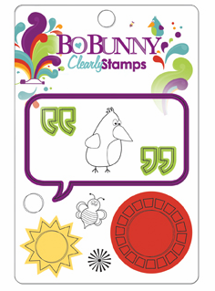 Bo Bunny: Sun Kissed - Clearly Stamp (E)