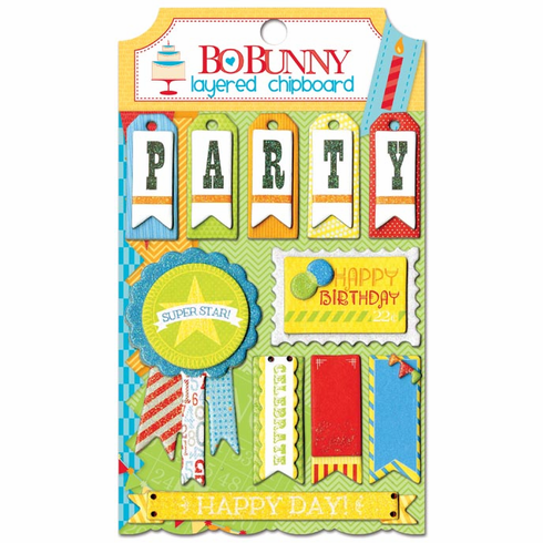 Bo Bunny - Surprise! - Layered Chipboard