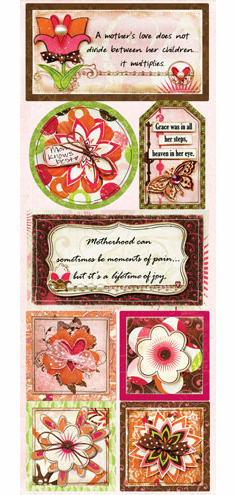 Bo Bunny: Vicki B. - Cardstock Stickers Mom Knows Best