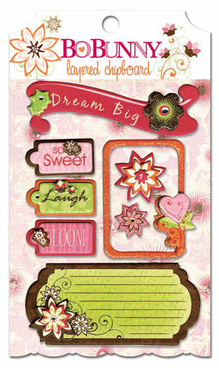 Bo Bunny: Vicki B. - Layered Chipboard