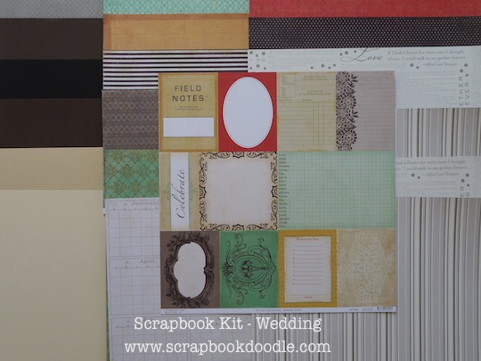 Cardstock & Patterned Papers (reverse sides)