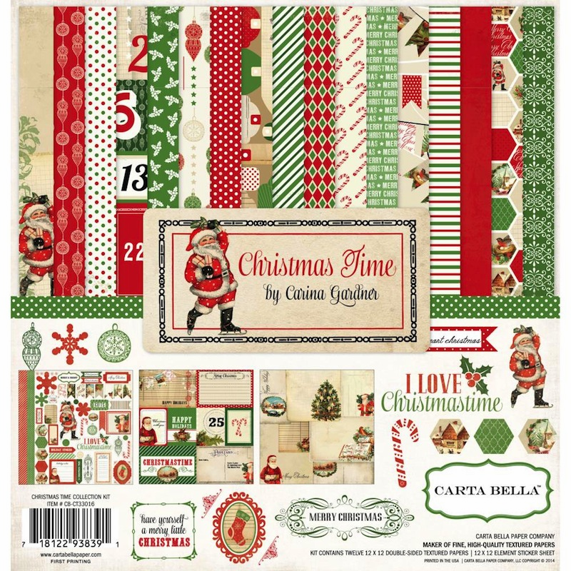 Carta Bella - Christmas Time - Collection Kit 12x12 - S/O