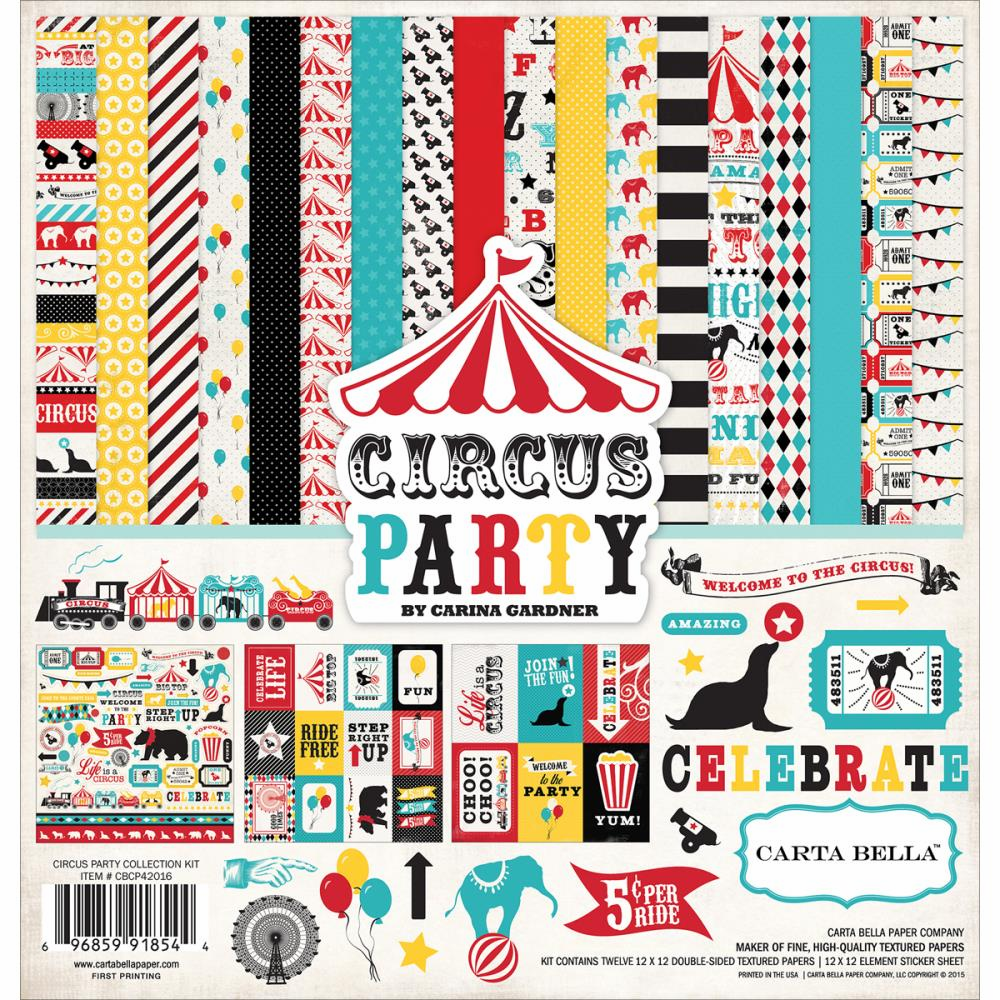 Carta Bella Circus Party Collection Kit 12x12 (S/O)