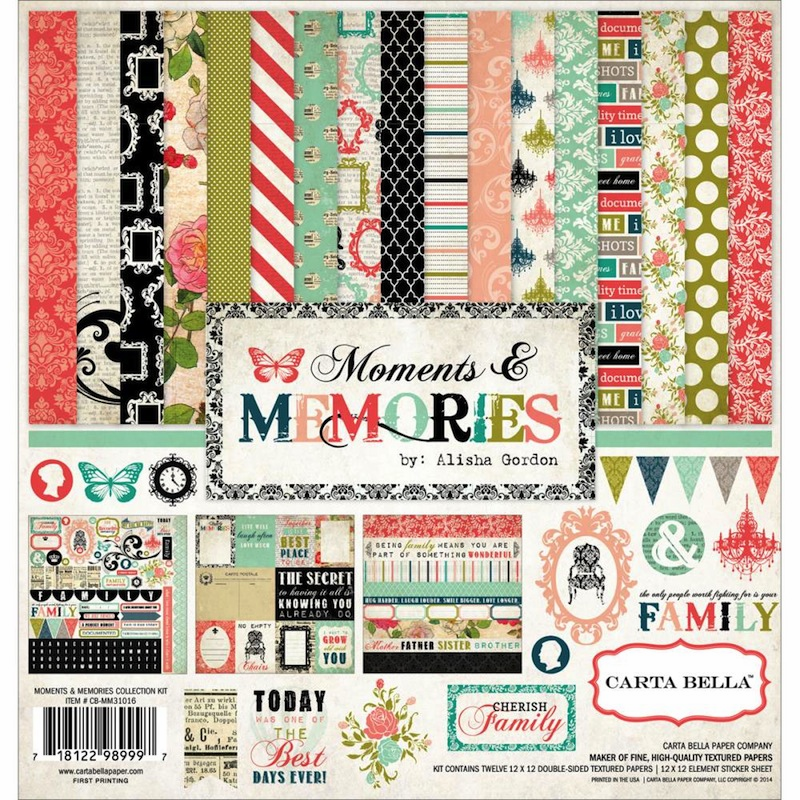 Carta Bella - Moments & Memories - Collection Kit 12x12 (S/O)