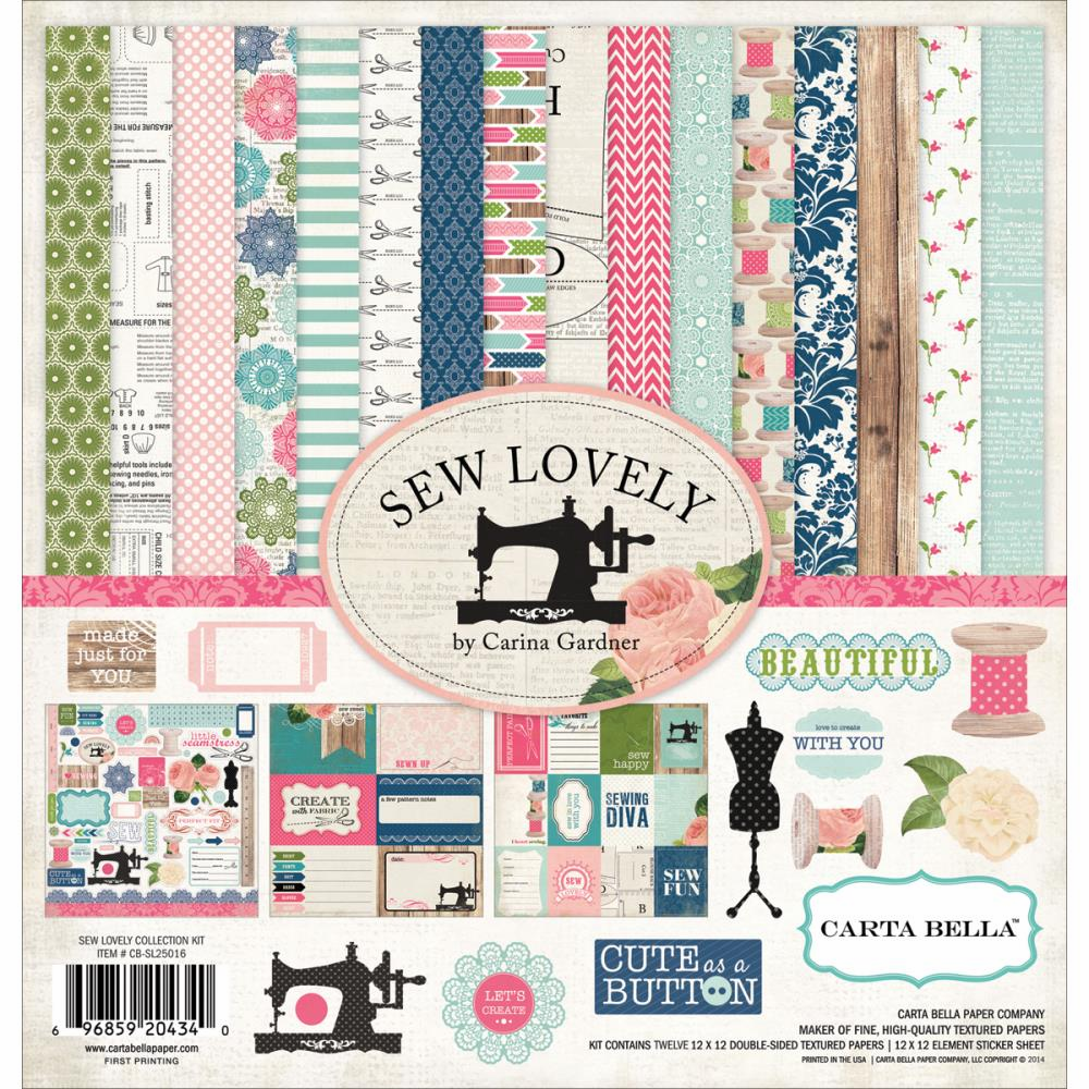 Carta Bella - Sew Lovely - Collection Kit 12x12 - S/O
