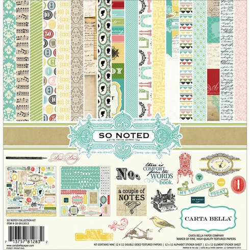Carta Bella - So Noted - Collection Kit 12x12 - S/O