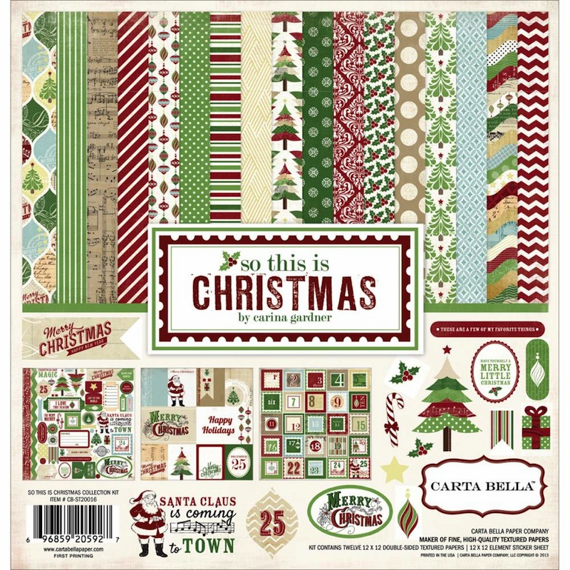 Carta Bella - So This Is Christmas - Collection Kit 12x12 - S/O