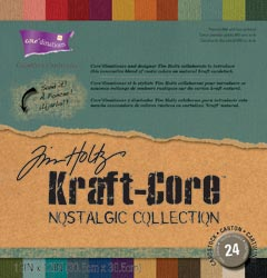 "Core'dinations Tim Holtz Cardstock - Kraft Core Nostalgic Collection 12""X12"" (S/O)"