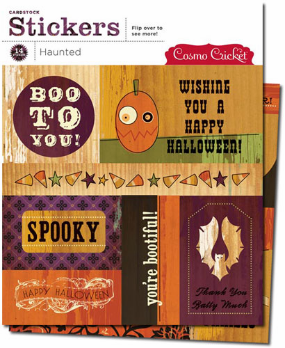 Cosmo Cricket: Haunted - Cardstock Stickers - S/O