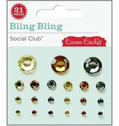 Cosmo Cricket Social Club Self-Adhesive Jewels