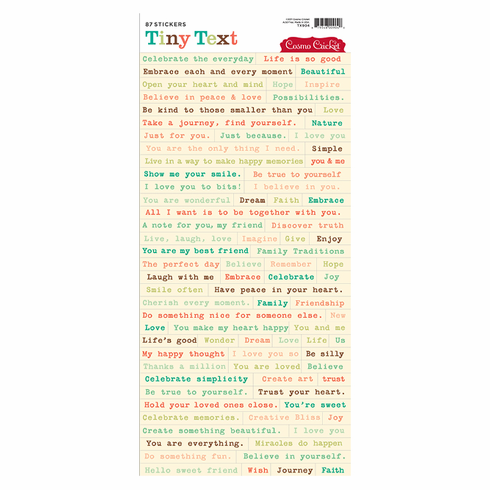 Cosmo Cricket: Tiny Text Stickers - Type Writer - S/O