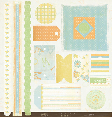 Crate Paper: Baby Bee DieCuts