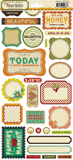 Crate Paper: Farmhouse - Phrase Cardstock Stickers - S/O