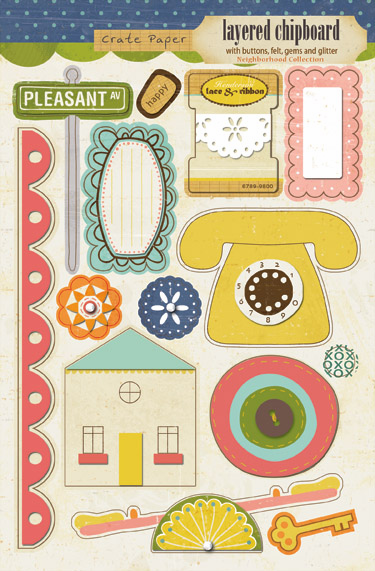 Crate Paper: Neighborhood - Layered Chipboard