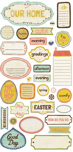 Crate Paper - Neighborhood - Phrase Cardstock Stickers