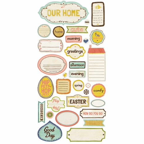Crate Paper: Neighborhood - Phrase Cardstock Stickers