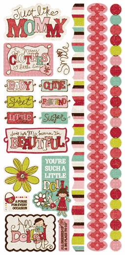 Crate Paper: Paper Doll - Title Stickers