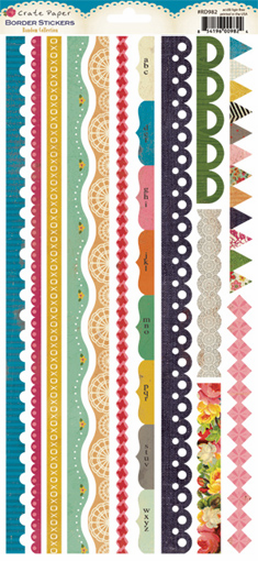 Crate Paper - Random - Border Cardstock Stickers